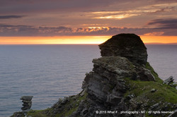 Hag's Head, woman's head looking out to Ocean, Liscannor (Ireland)