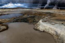 Mud pools at Namaskard, Iceland