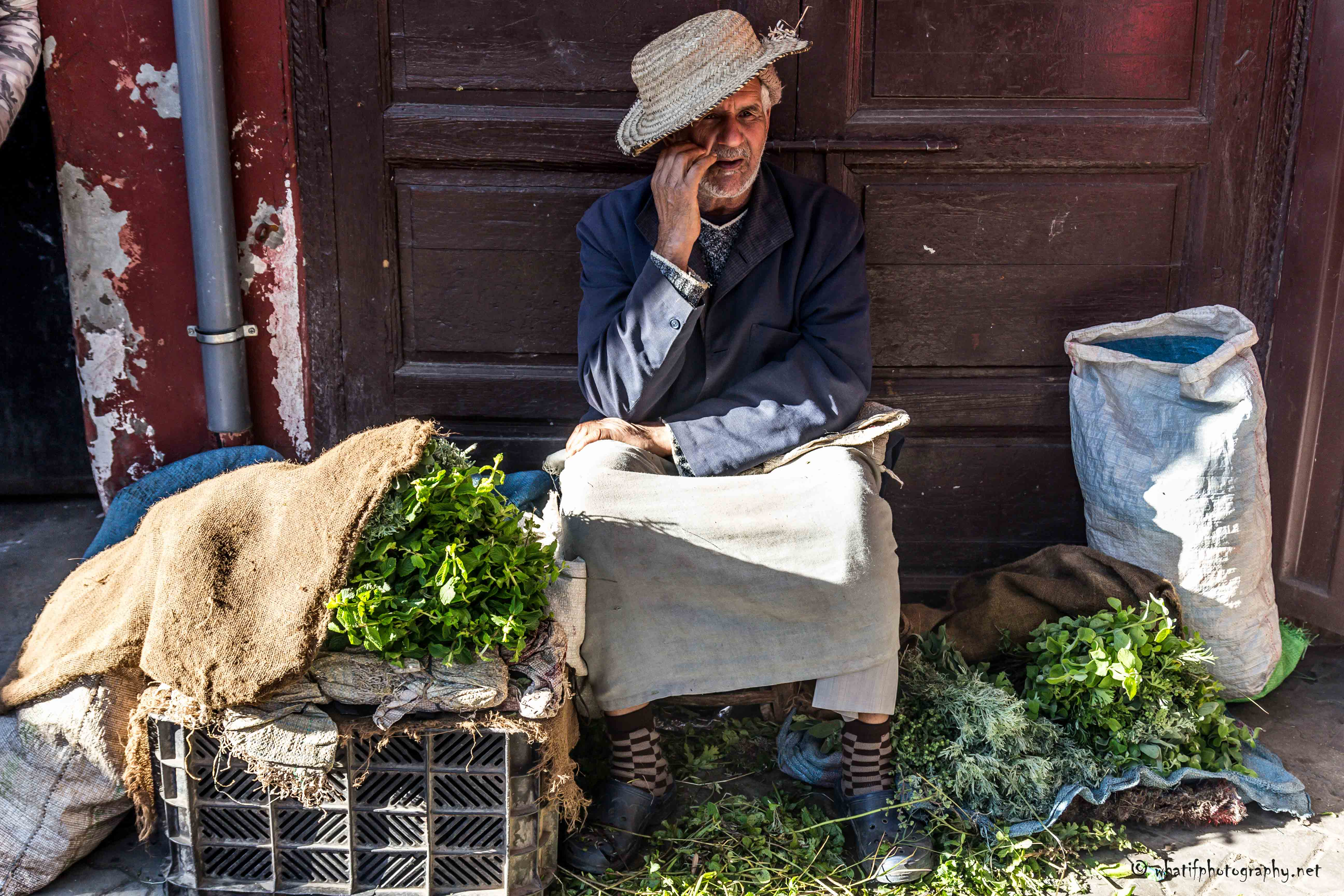 Moroccan Mint Seller