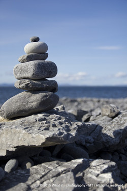 Stack of stones on Inishmore - Aran Islands (Ireland)