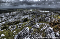 Topview of Mullaghmore mountain – Burren national park (Ireland)