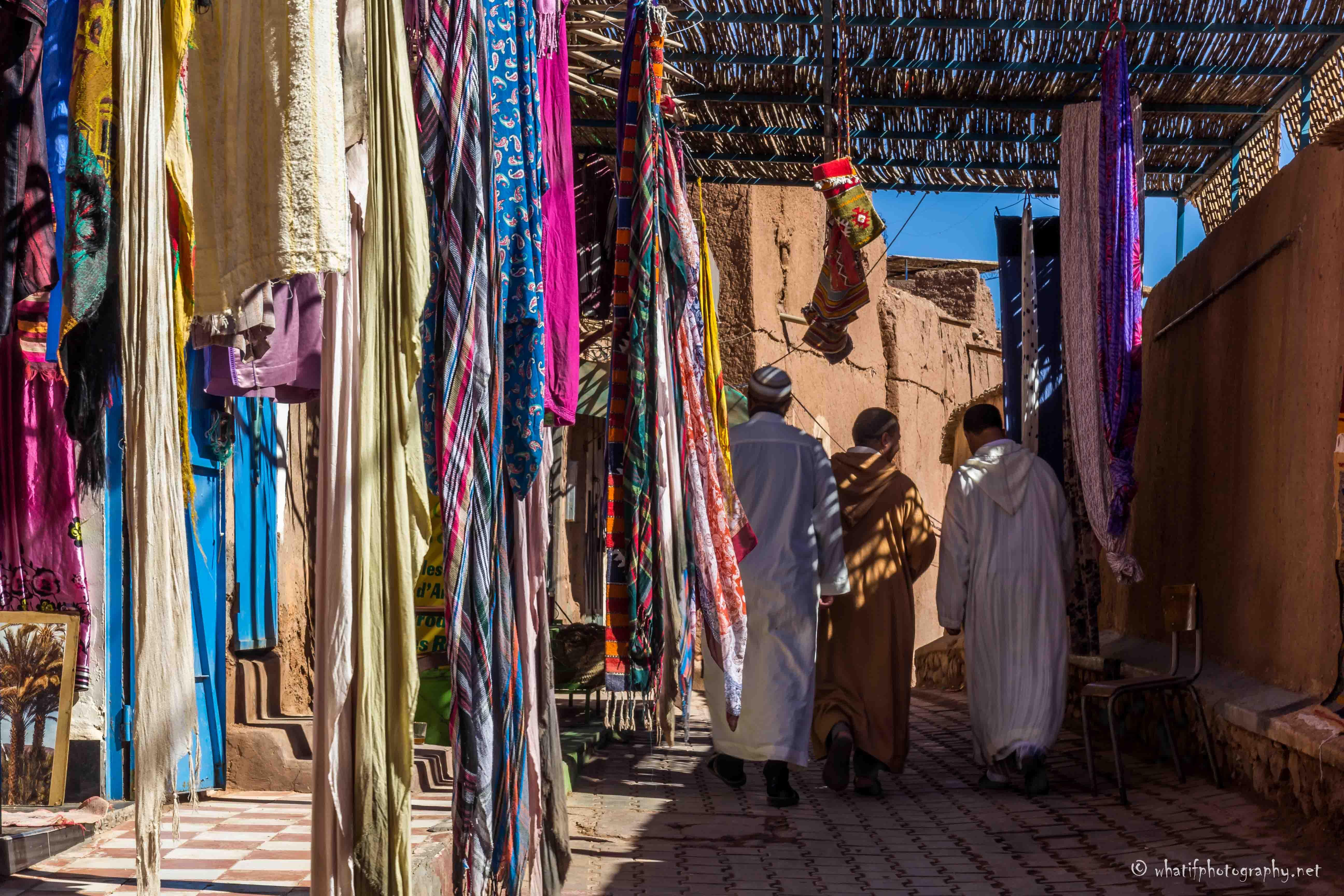 Scarf shop in Ouarzate