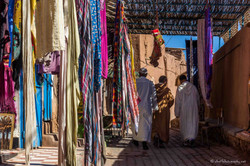 Scarf shop in Ouarzate