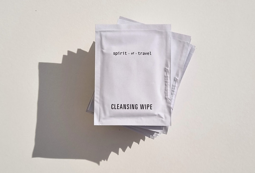 Spirit of Travel Cleansing Wipes Multipack of 10