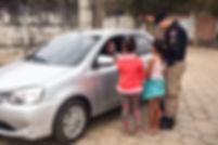 Blitz educativa de trânsito em Arantina conta com participação de alunos da rede municipal de ensino