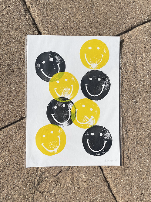 Smiley Block Print