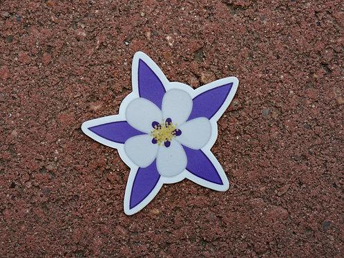 Columbine Flower Sticker