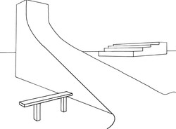 Skate Park in Two-Point Perspective