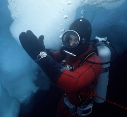 Dr. Joe MacInnis in the Arctic Ocean