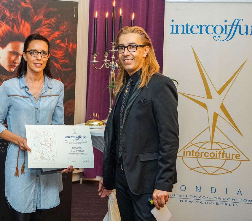Geschäftsinhaberin Ivana Invernale mit unserem Paten Gino