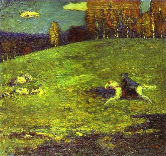 "Wassily Kandinsky ""Blue Rider"", 1903, Private Collection."