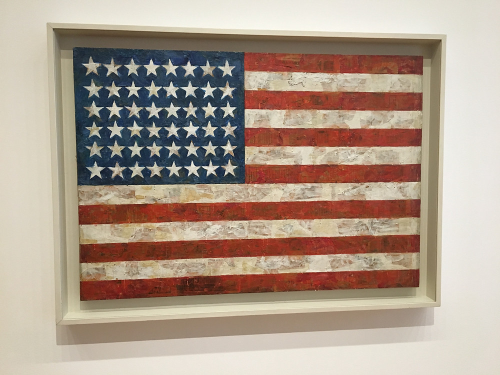 "Jasper Johns, ""Flag"", 1954/55, MoMA, New York. Photo: RPR"