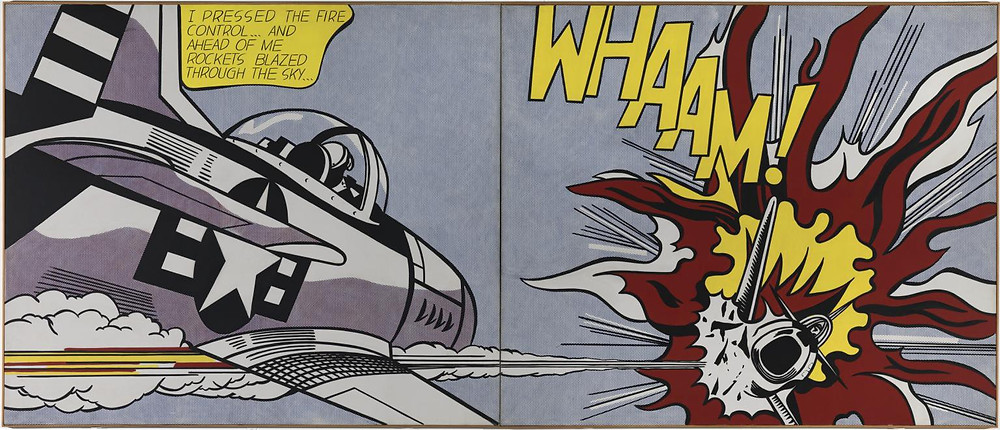 "Roy Lichtenstein, ""Whaam!"", 1963, Tate Modern, London."