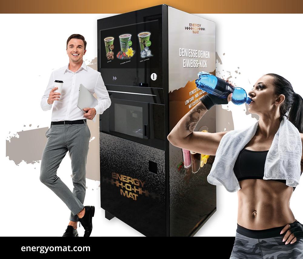 ENERGY-O-MAT: Als Zwischenmahlzeit während unseres hektischen Arbeitsalltags oder als Erfrischung für zwischendurch (Models: Shutterstock)