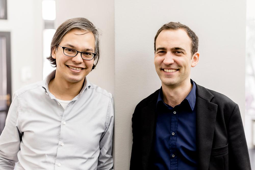 Die Galeristen Daniel Schierke und Ralf Seinecke