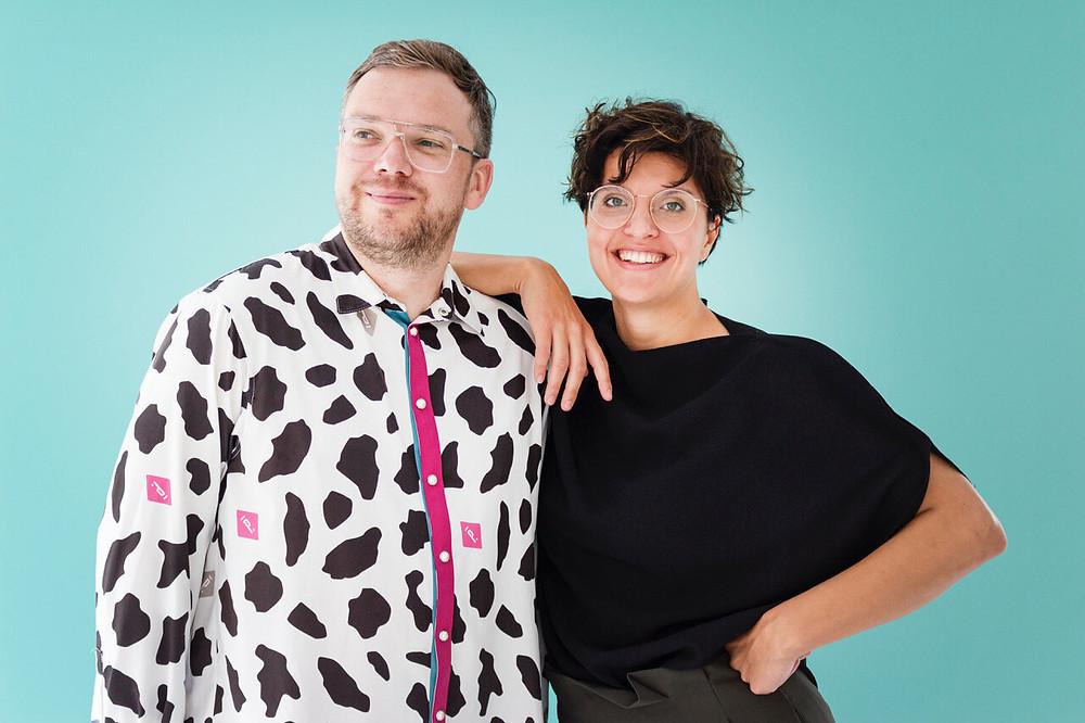 Patrick Droste und Katharina Galladé, Geschäftsführer der Galerie Droste