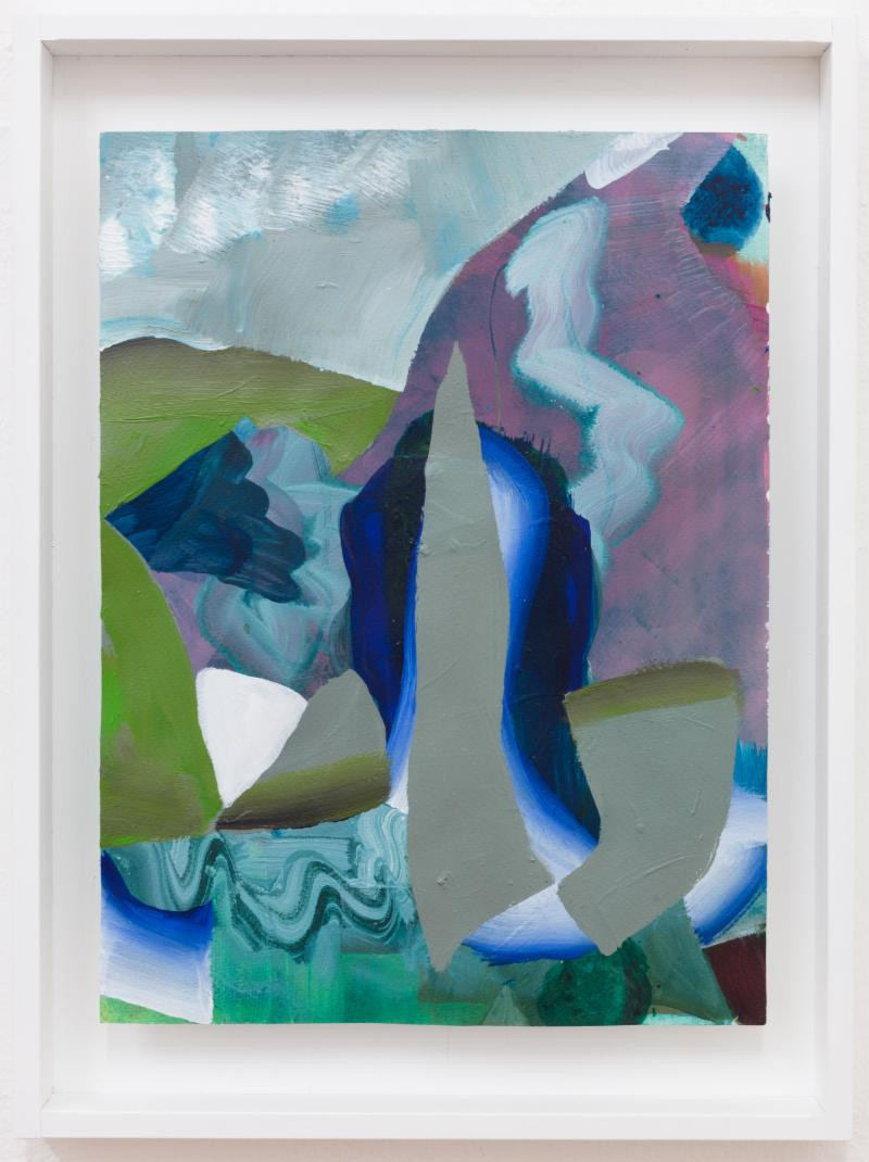 Carolin Israel, Stalagmit, 2019 – Acrylic on Paper – 32 x 24 cm