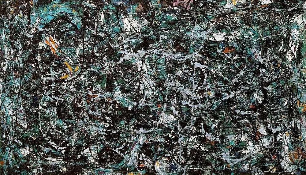 "Jackson Pollock, ""Full Fathom Five"", 1947, MoMA."