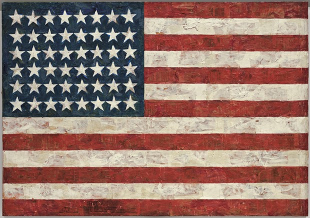 "Jasper Johns, ""Flag"", 1954–55, MoMA."