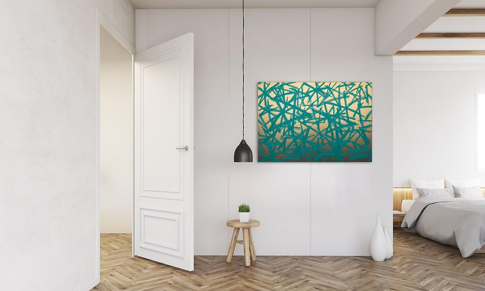 RPR ART   Bernhard Adams, Atacama XXXIII, 2021, Acryl und Öl auf Polyester, 100 x 70 cm, 3.600 EUR inkl. MwSt.