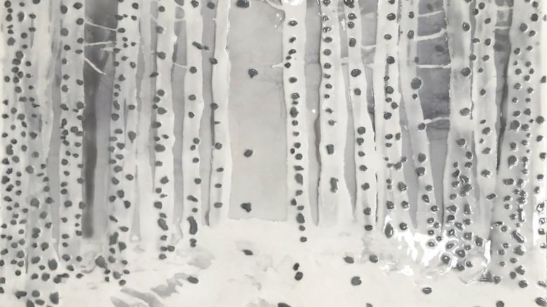 Amparo Sard I Landscape N. 1 I 2020 I Synthetic resin I 85 x 125 cm