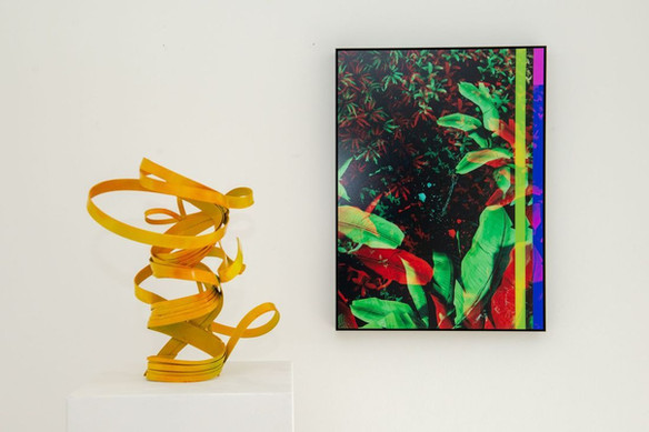 Works by  Peter Müller, Raphael Brunk (from left to right)