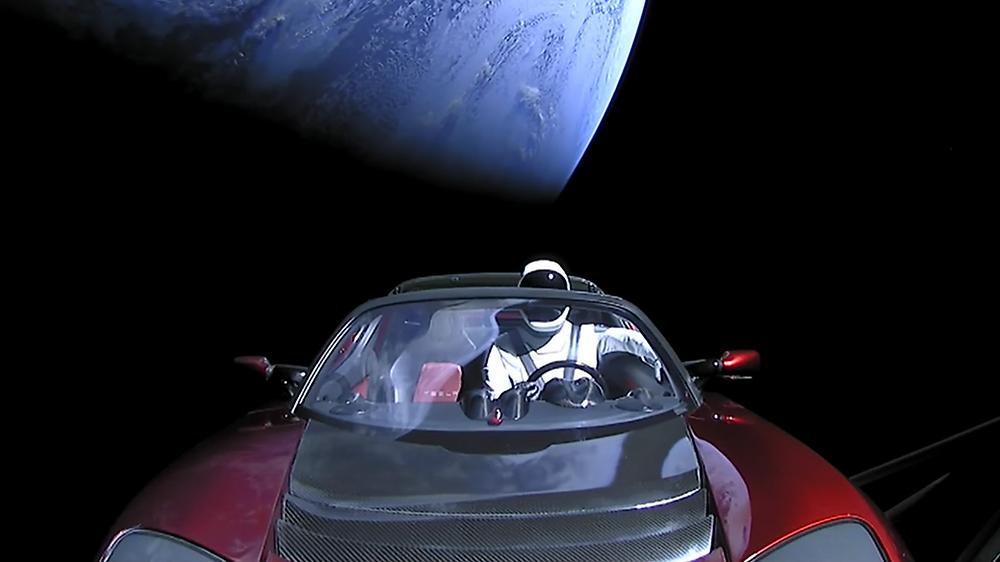 Angegebenes Reiseziel ist der Mars
