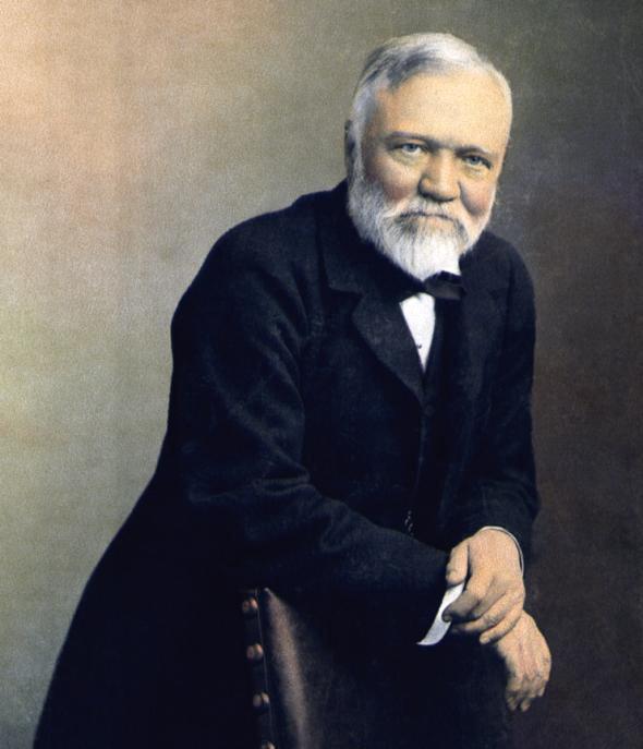 Andrew Carnegie (1835–1919).
