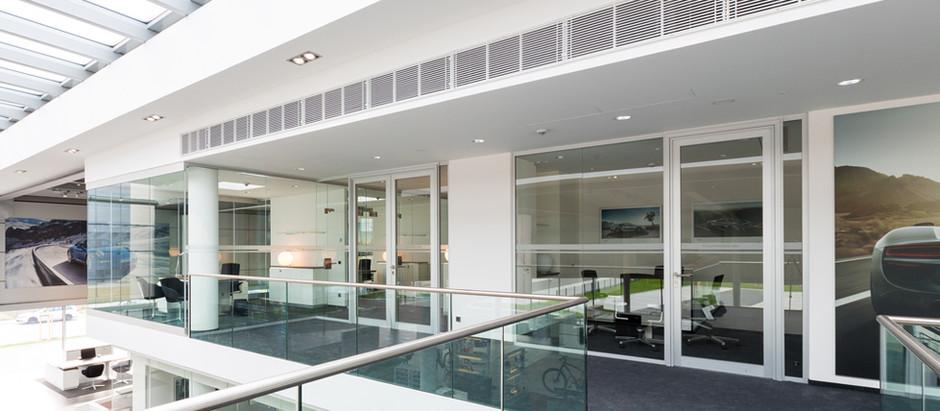 Porsche-Zentrum Mannheim · Interieur-Glas · Trennwandsystem
