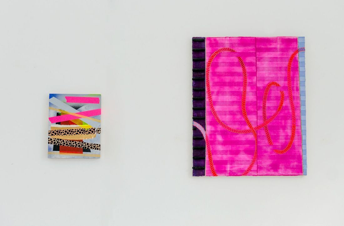Works by Michal Raz (left) and Ryo Kinoshita (right)