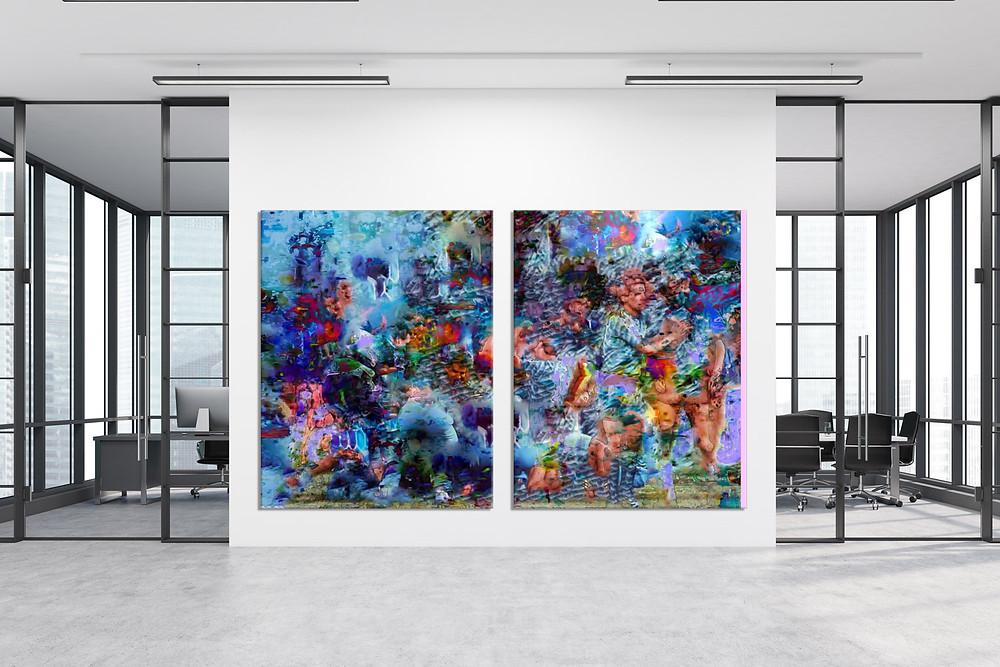 RPR ART   Raphael Brunk, #62697c, 2020, UV-Druck auf Aluminium, je 180 x 140 cm, 19.000 EUR inkl. MwSt.
