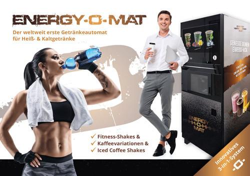 ENERGY-O-MAT: Der weltweit erste Getränkeautomat für Heiß- und Kaltgetränke (Models: Shutterstock)