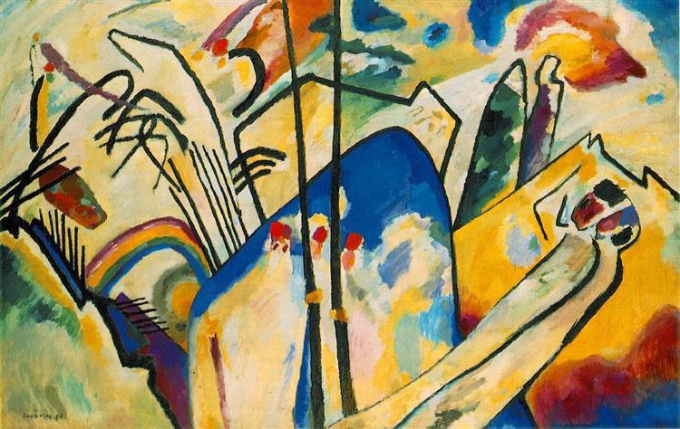 """Wassily Kandinsky, """"Improvisation IV"""", 1911, Kunstsammlung Nordrhein-Westfalen, Düsseldorf."""