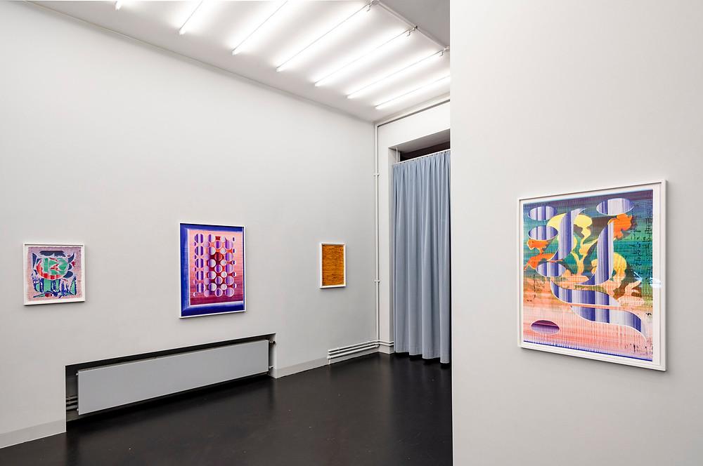 Galerie Rundgænger, Ausstellungsansicht mit Tiziana Jill Beck, Christian Schellenberger und Claus Georg Stabe