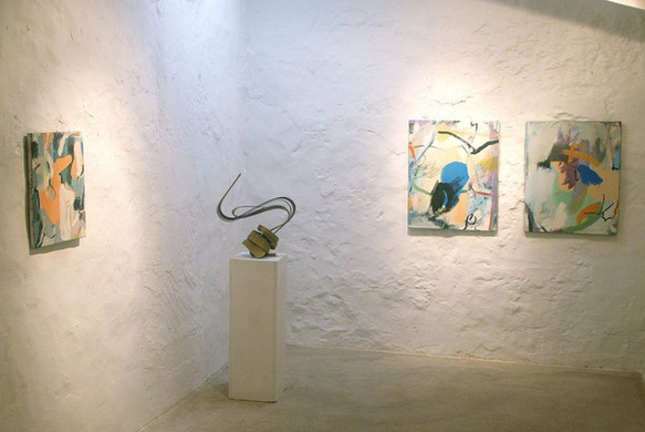 Paintings by Sophie Heinrich and Sculpture by Peter Müller