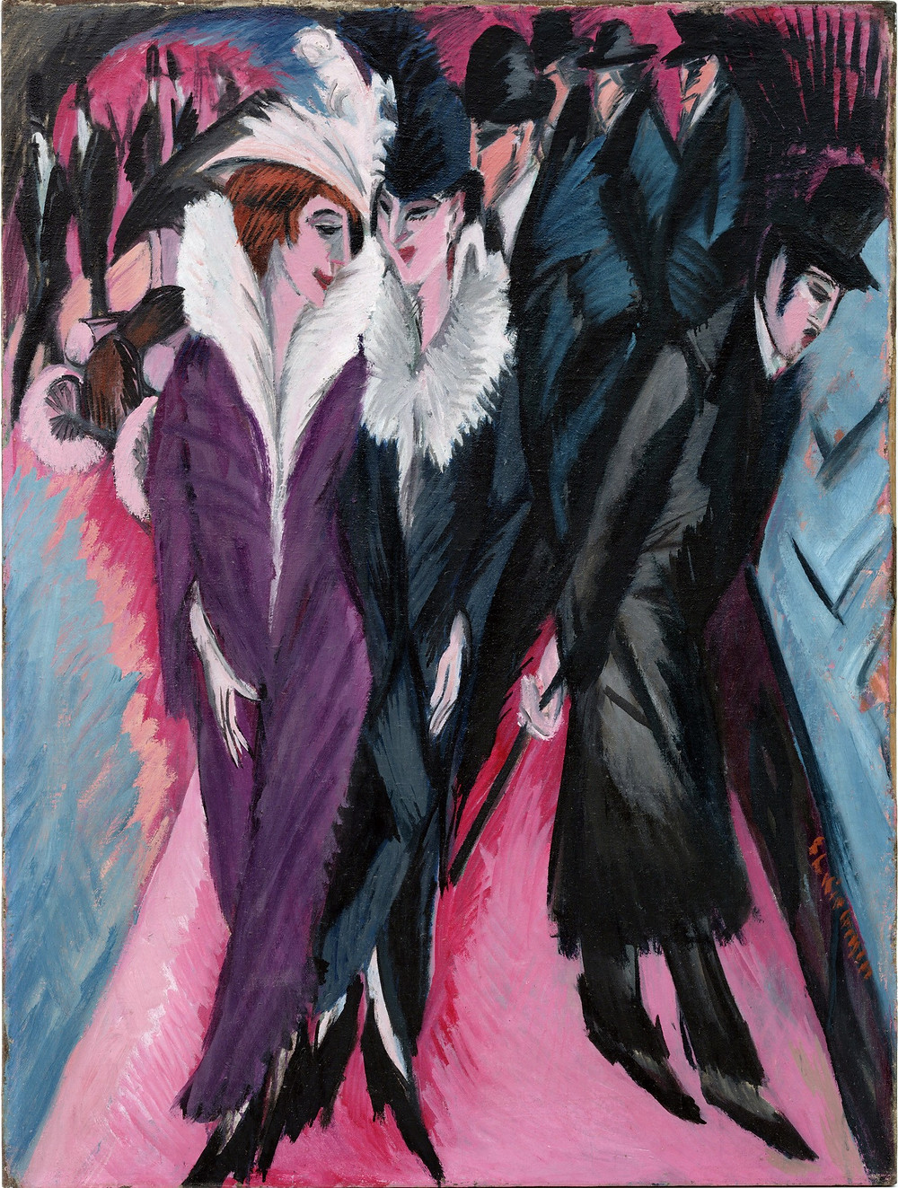 """Ernst Ludwig Kirchner, """"Street"""", 1913, MoMA."""