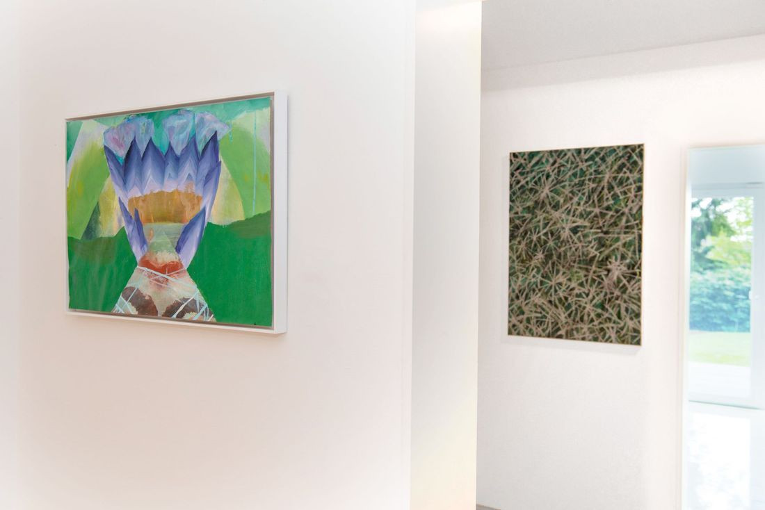 Works by Carolin Israel (left), Bernhard Adams (right)