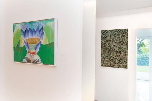 Works by Carolin Israel (left), Bernhard Adams (right)