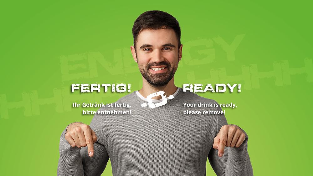 ENERGY-O-MAT: Eiweißshakes, Iced Coffee Shakes oder eine heiße Kaffeevariantion – per Touch frisch und hygienisch zubereitet