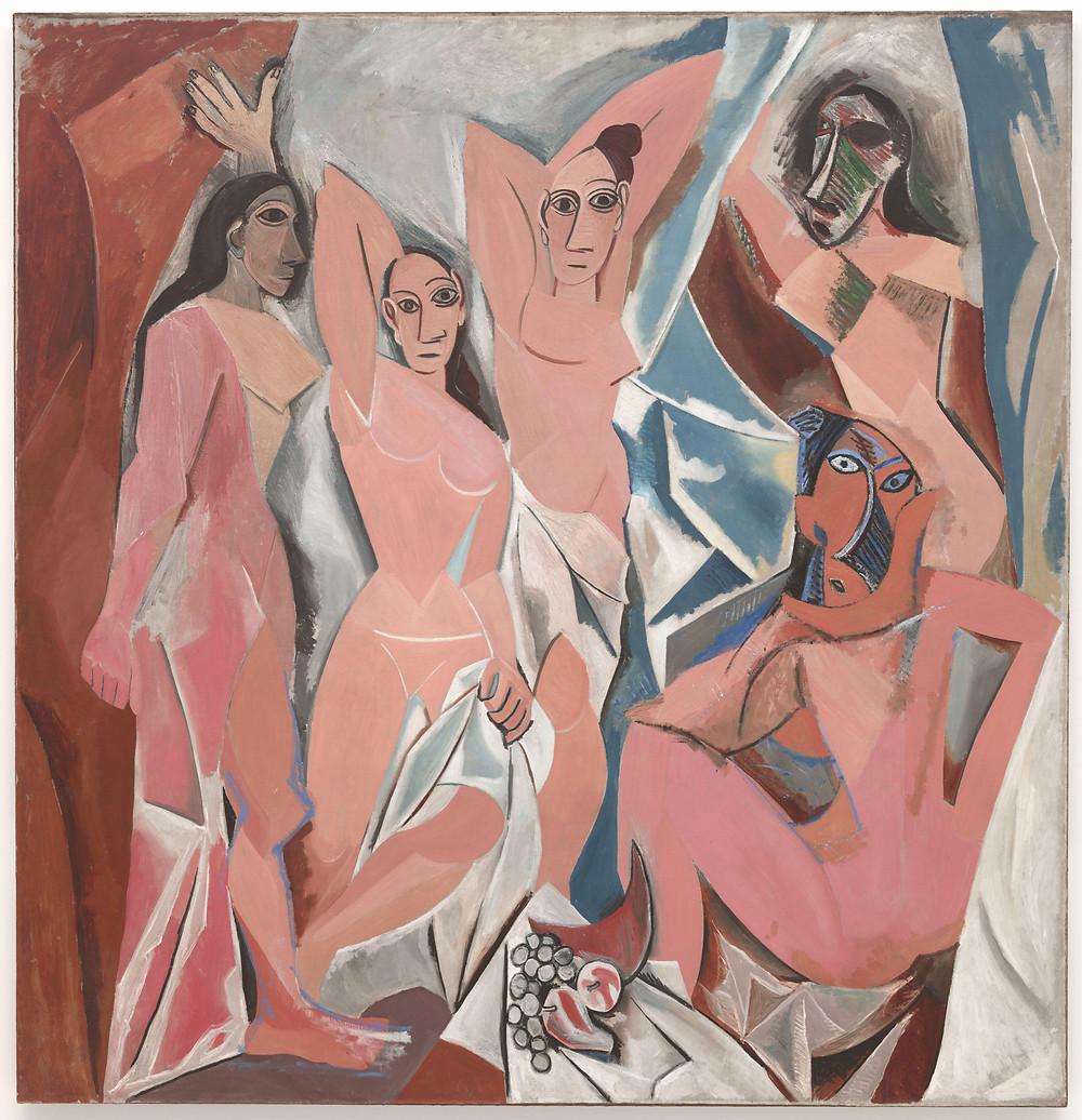 """Pablo Picasso, """"Les Demoiselles d'Avignon"""", 1907, MoMA."""