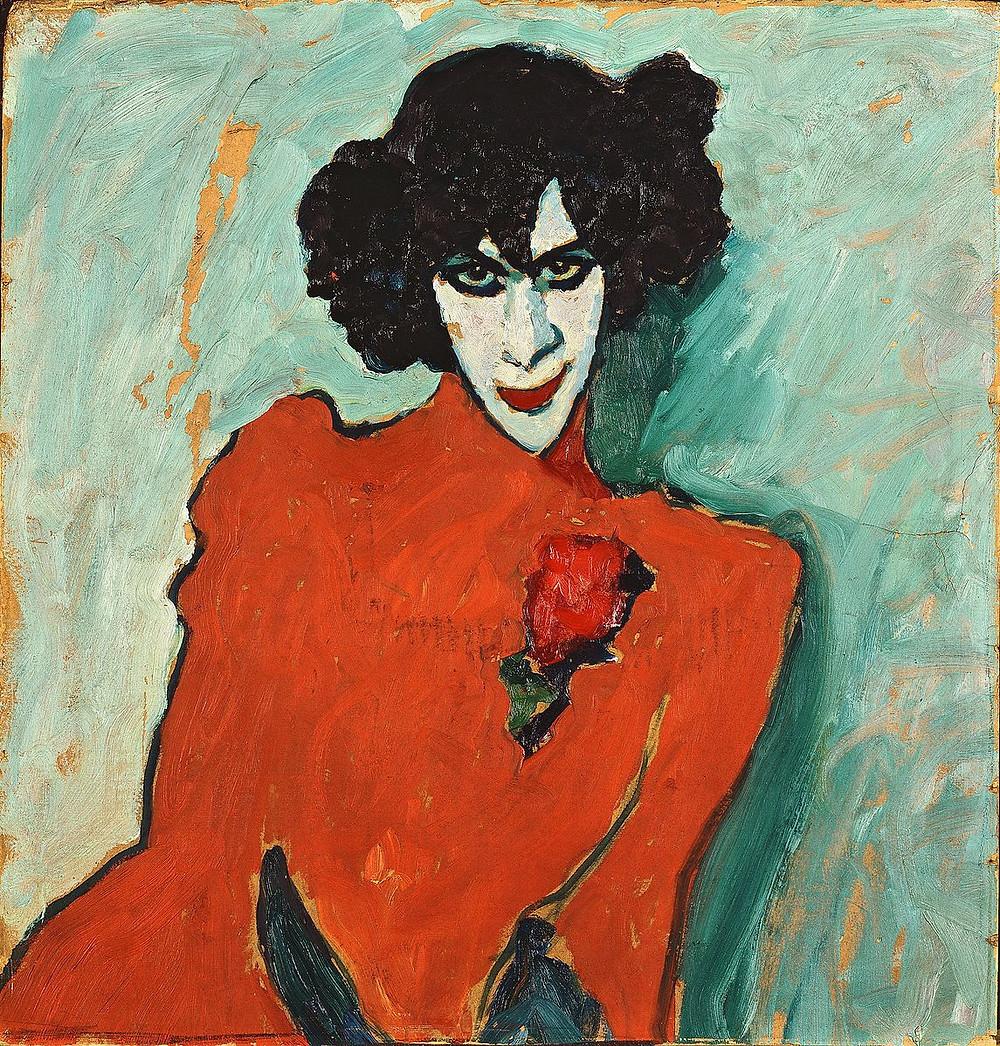 """Alexej von Jawlensky, """"Portrait of Alexander Sacharoff"""", 1909, Lenbachhaus, Munich."""