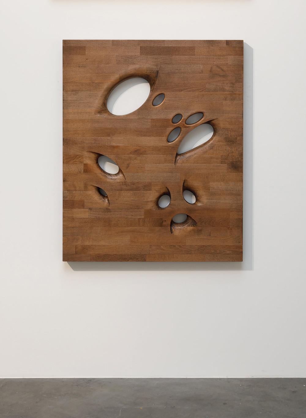 Richard Nikl, Assistant, 2017, Beech Wood, Hard Wax Oil, Aluminium Hardware, 100 x 82 x 5 cm