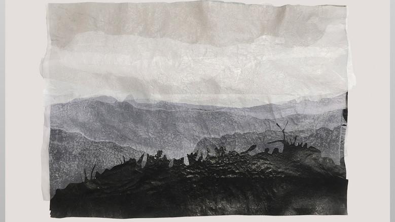 Amparo Sard I Landscape 4 (Horizon in Mallorca) I 2020 I Recycled plastic, framed I 48 x 65 cm