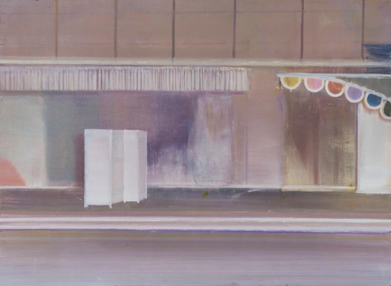 Eric Keller, Paravant, 2018 – Oil on Wood – 80 x 110 cm (Foto: Baldauf & Baldauf)