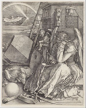 "Albrecht Dürer, ""Melencolia I"", Engraving, 1514."