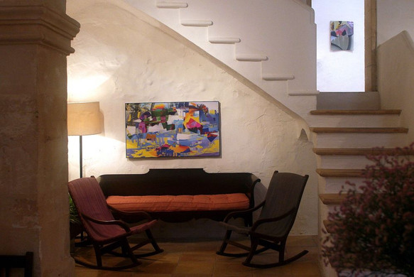 Works by Raphael Brunk (left) and Carolin Israel (right)