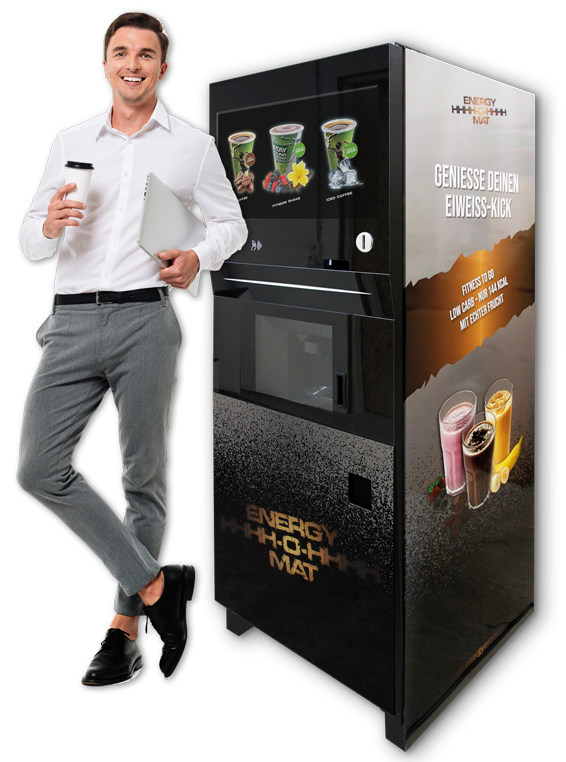 B & H Vending ENERGY-O-MAT (Model: Shutterstock)