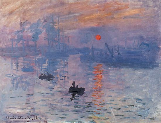 "Claude Monet, ""Sunrise"", 1872, Musée Marmottan, Paris."
