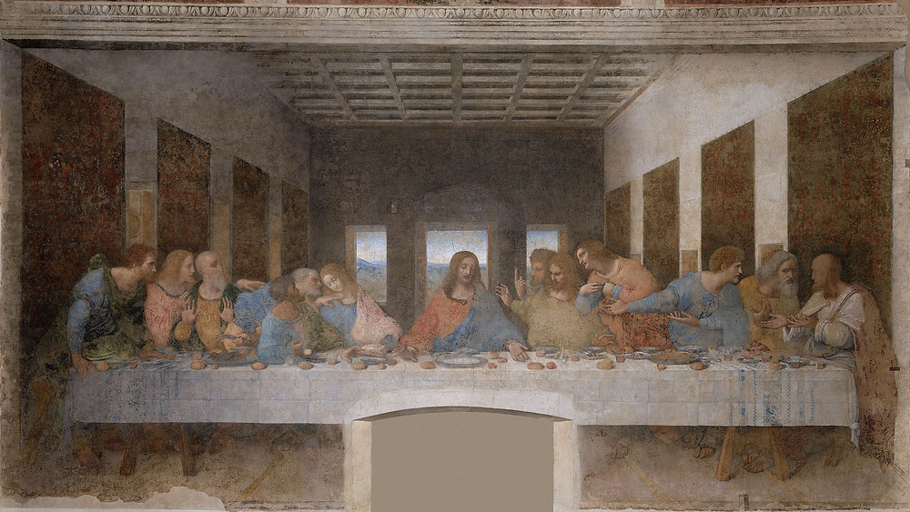 "The ""Last Supper"", 1595–98, by Leonardo da Vinci (1452–1519) is a mural history painting in the refectory of the Convent of Santa Maria delle Grazie, Milan. It is one of the world's most famous paintings."