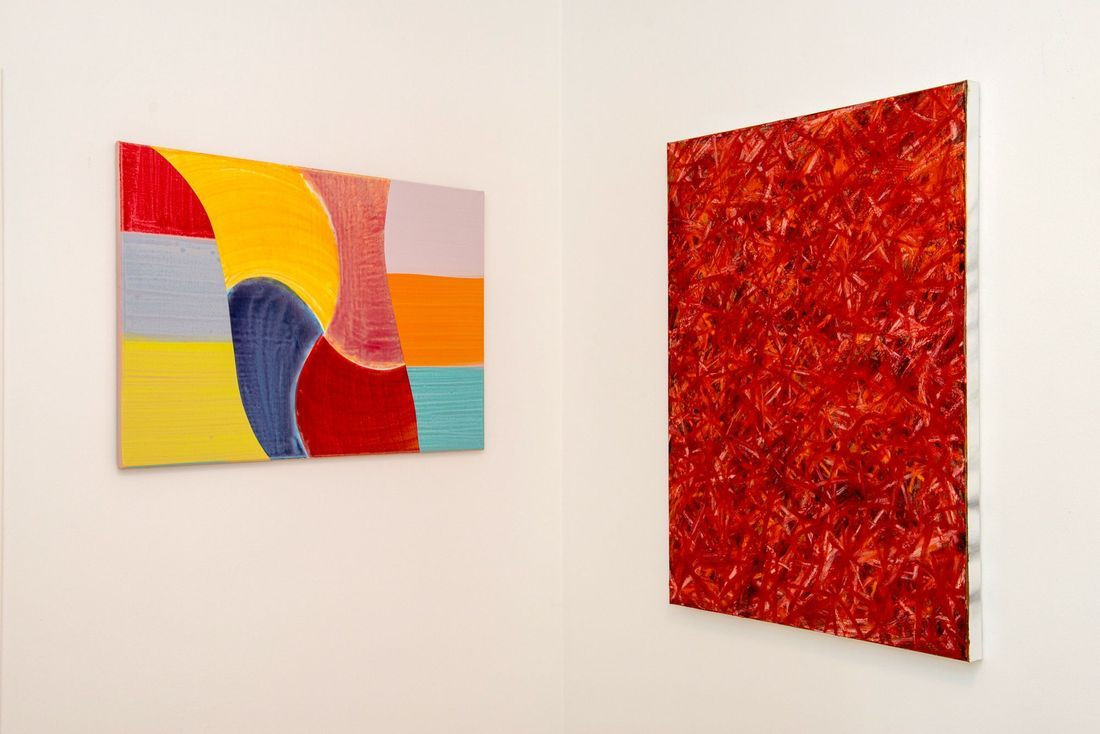 Works by Filip Gudovic (left), Bernhard Adams (right)